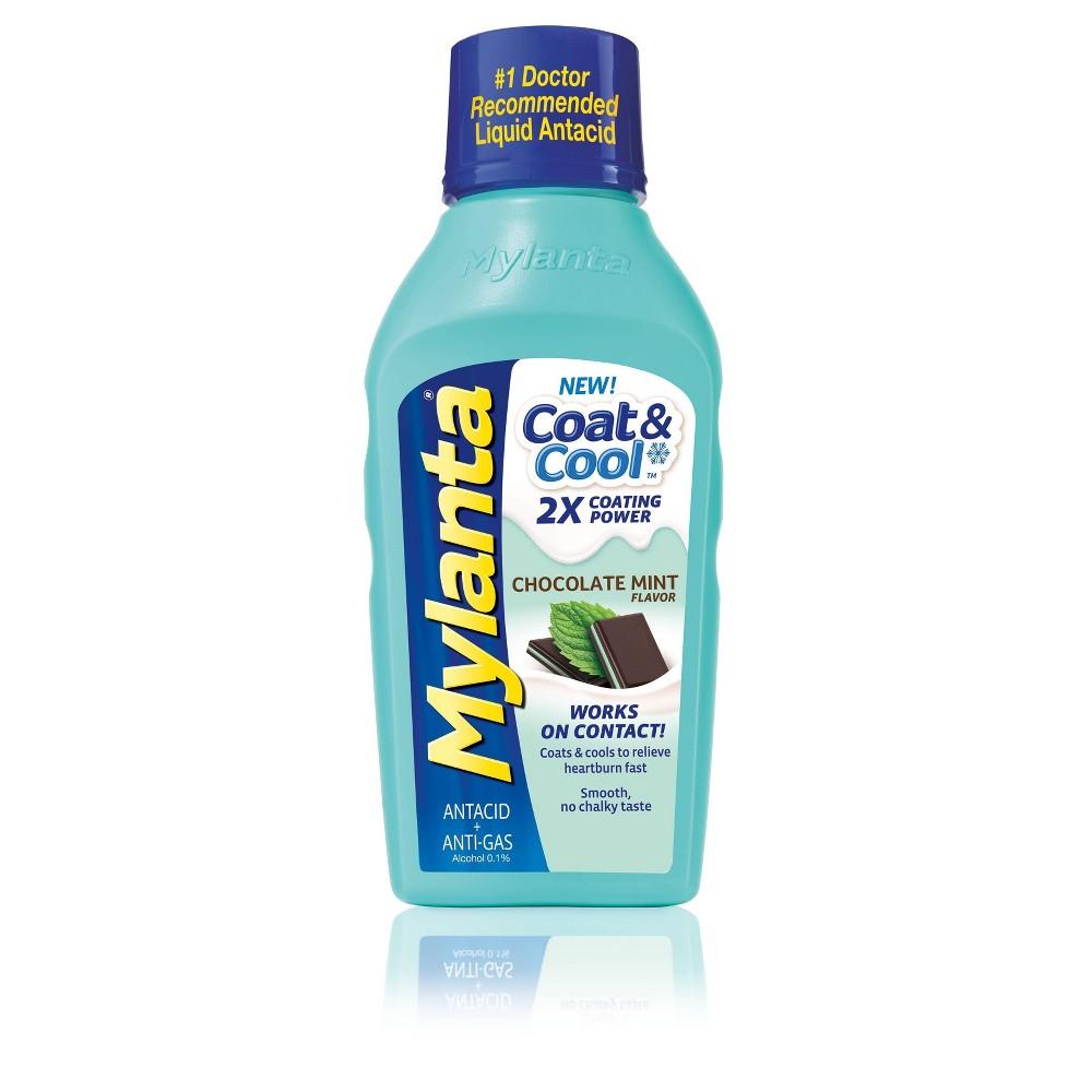Mylanta Coat & Cool Chocolate Mint - Maximum Strength Liquid - 12oz Best