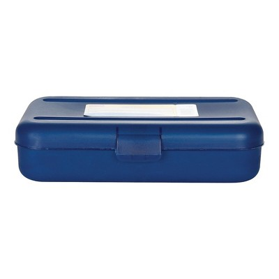Staples Pencil Box Translucent Blue 472595