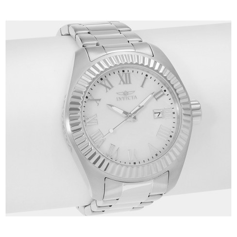 Women's Invicta Angel 20315 Stainless Steel Roman Numeral Dial Link Bracelet Watch - Silver - image 1 of 2
