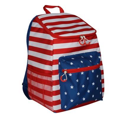 Evergreen Backpack Cooler - American Flag