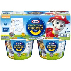 Kraft Paw Patrol Shapes Mac & Cheese 4pk Cups - 7.6oz