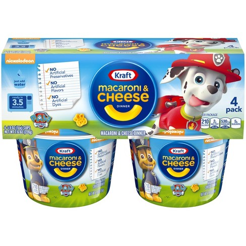 Paw Patrol Shapes Mac Cheese 4pk Cups