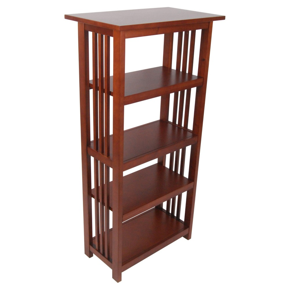 48 Mission Bookcase Cherry - Alaterre Furniture, Brown Red