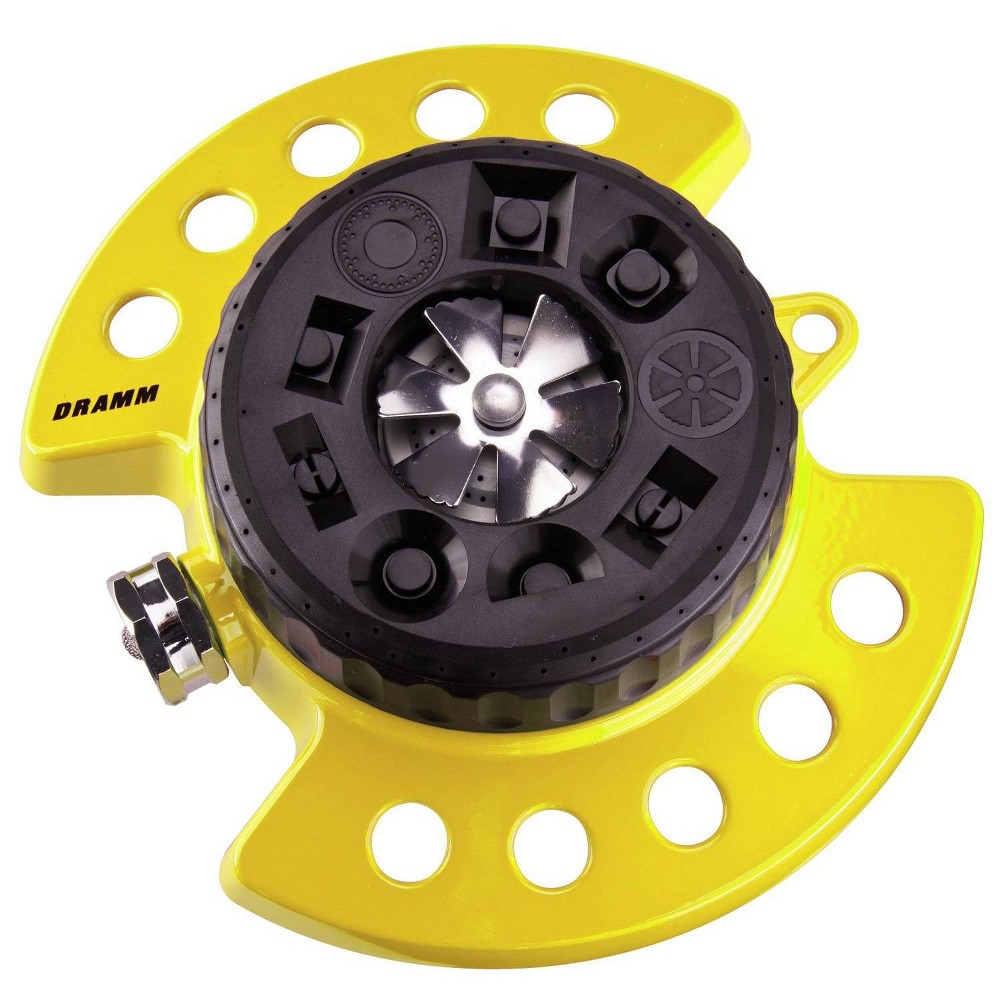 Image of ColorStorm 9 Pattern Turret Sprinkler Yellow - Dramm