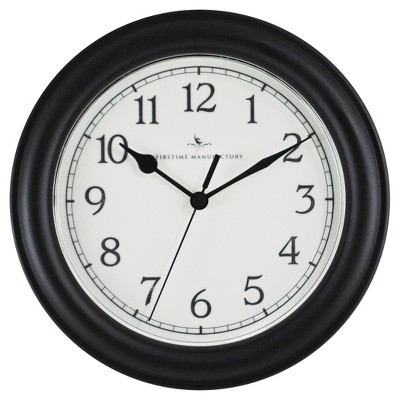 8.5  Essential Round Wall Clock Black - FirsTime®