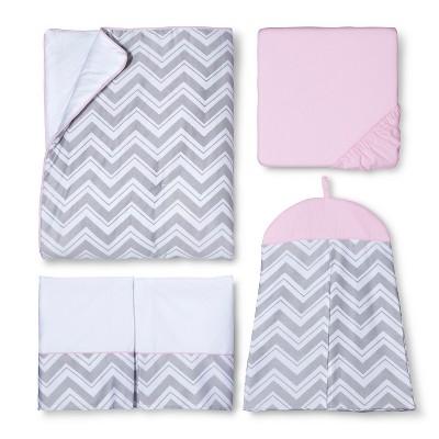 Pink Zig Zag 11pc Crib Bedding Set
