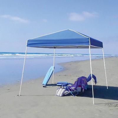Z-Shade 10' x 10' Horizon Angled Leg Shade Canopy Tent Shelter with Side Walls
