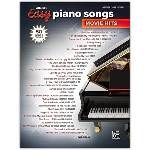 Alfred Alfred's Easy Piano Songs: Movie Hits Easy Hits Piano Songbook - image 1 of 1