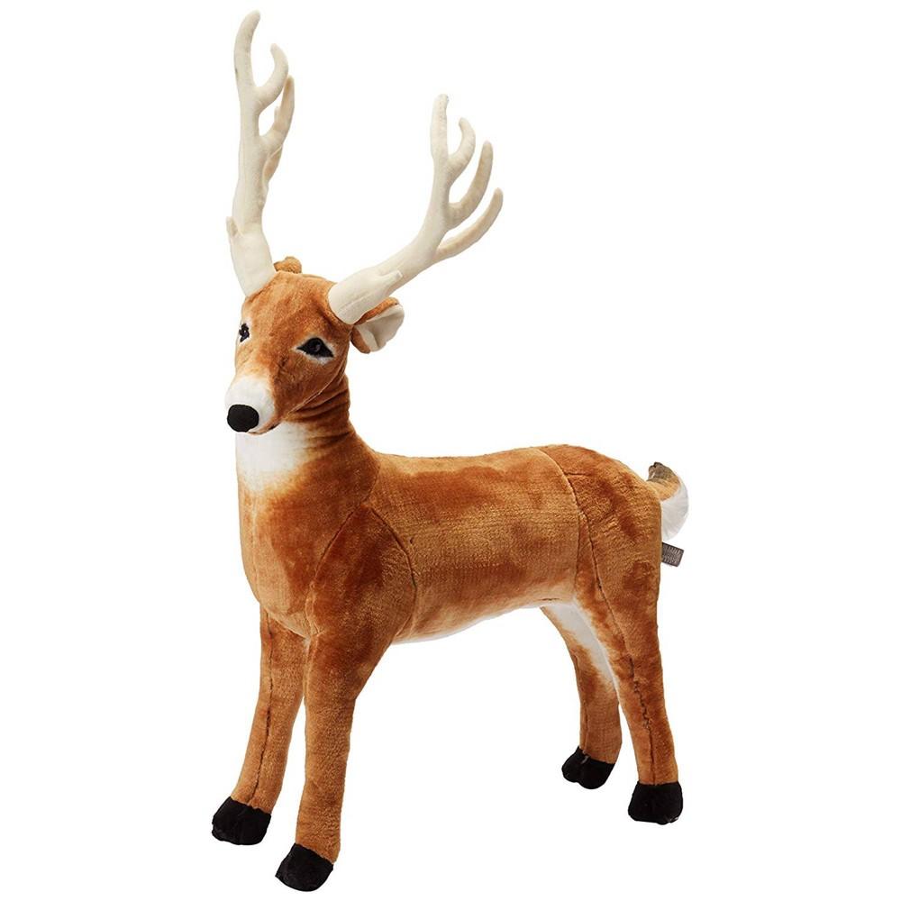 Melissa 38 Doug Giant Deer Lifelike Stuffed Animal Over 3 Feet Long