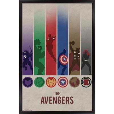 Avengers - Minimalist Logo Framed Poster Trends International