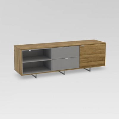 "68"" Stockholm Tv Stand Walnut/Light Gray - Chique"