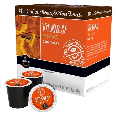 The Coffee Bean & Tea Leaf Viennese Blend Dark Roast Coffee - Keurig K-Cup Pods - 16ct - image 1 of 1