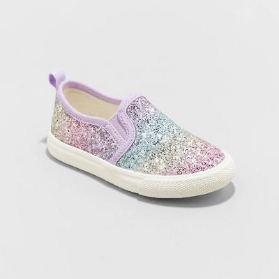 Toddler Girls' Madigan Slip-On Glitter Apparel Sneakers - Cat & Jack™