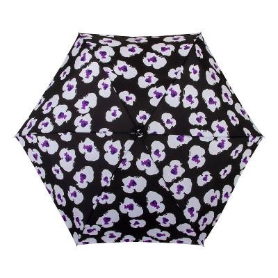 Cirra by ShedRain Floral Print Women's Mini Manual Compact Umbrella - Black