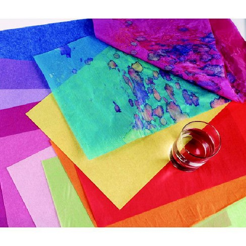 Spectra Deluxe Bleeding Tissue Paper, 12 x 18 Inches, Assorted Colors, pk of 50 - image 1 of 1