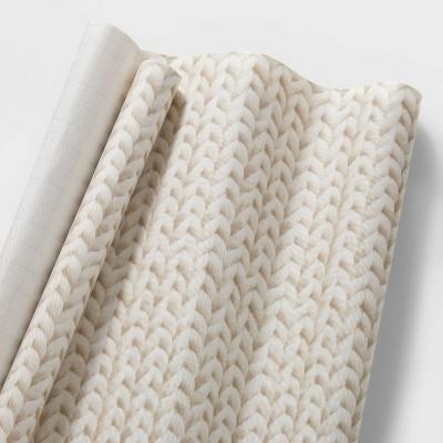 20 sq ft Knit Gift Wrap Cream - Wondershop™