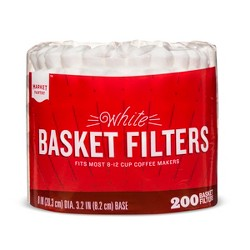 White Coffee Filters - 200ct - Market Pantry™