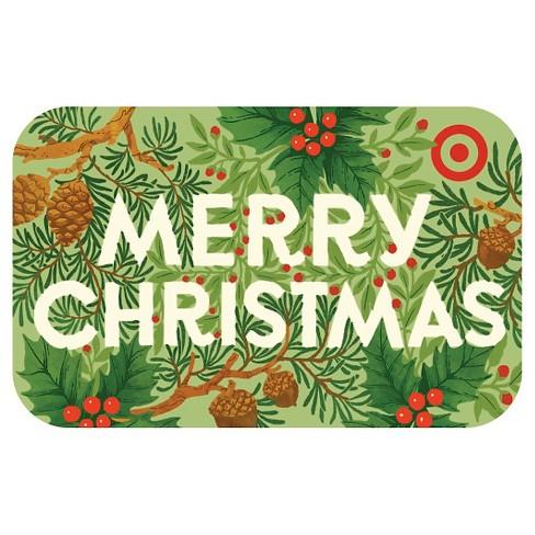 Merry Christmas Foliage GiftCard : Target