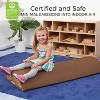 ECR4Kids SoftZone Tree Log Climber and Soft Balance Board Play Set - Obstacle Course for Kids - image 4 of 4