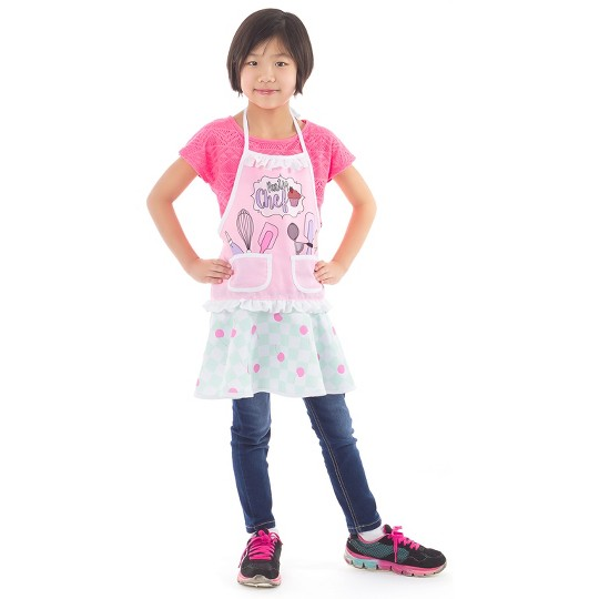 Little Adventures Kids Little Bakery Shop Apron, Girl's, Size: Small, MultiColored image number null