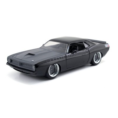 Jada Toys Fast & Furious 1973 Plymouth Barracuda Die-Cast Vehicle 1:24 Scale Glossy Black