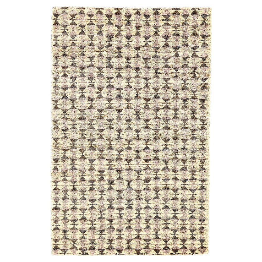 Violet (Purple) Tribal Knotted Area Rug - (9'6