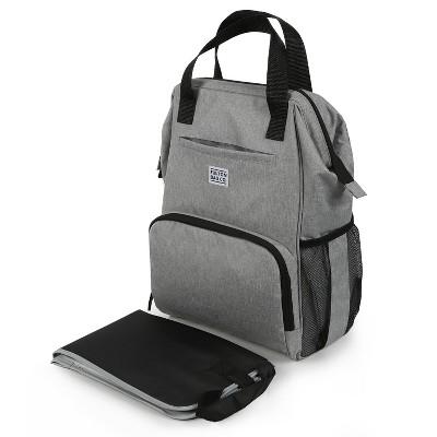 Fulton Bag Co. Doctor Backpack Diaper Bag - Gray