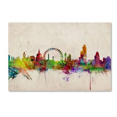 "22"" x 32"" London Skyline by Michael Tompsett - Trademark Fine Art"