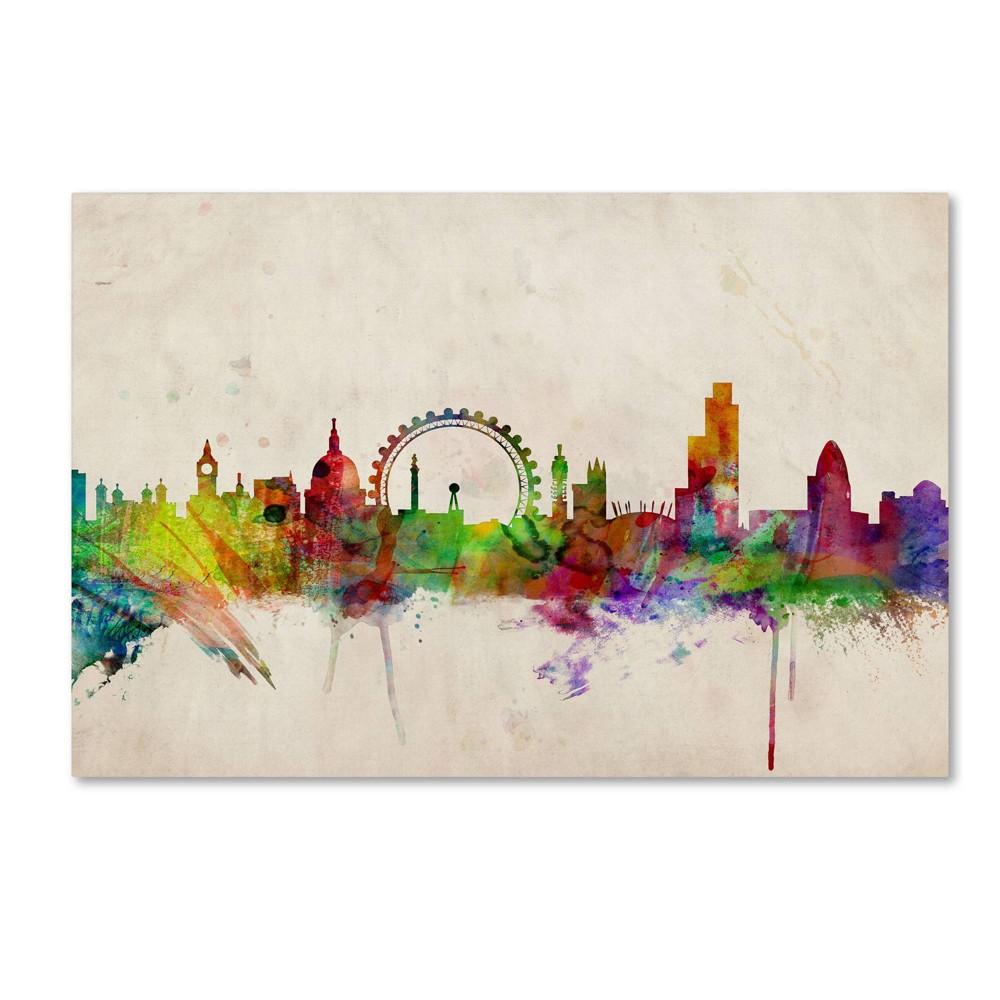 22 34 X 32 34 London Skyline By Michael Tompsett Trademark Fine Art