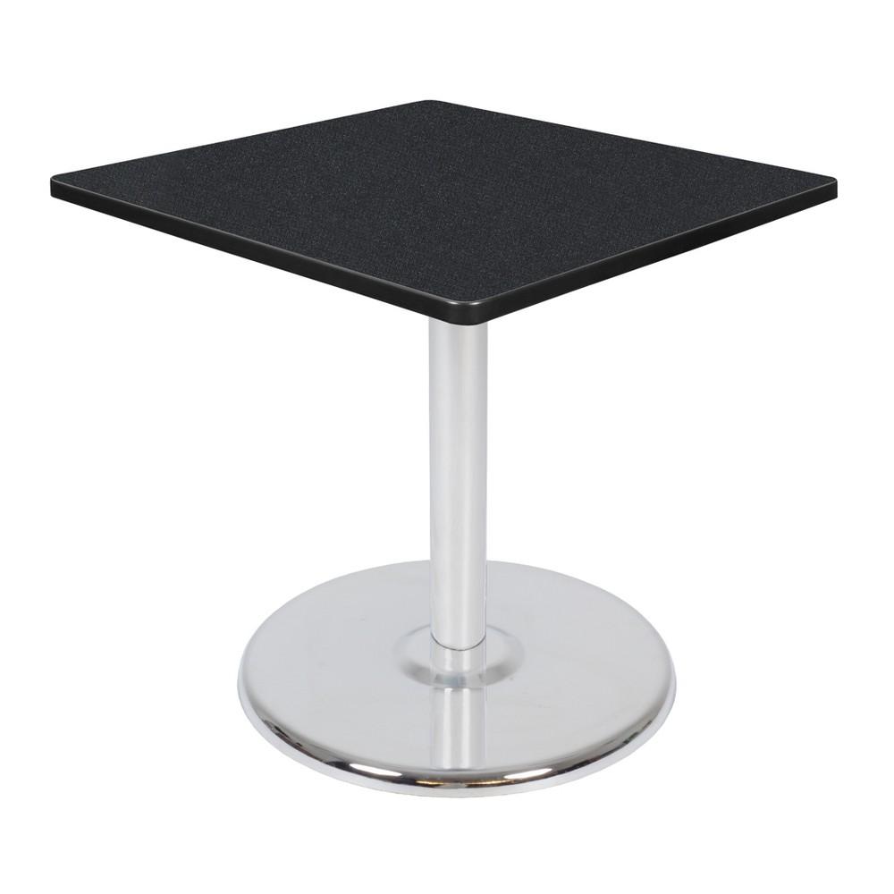 30 34 Via Square Platter Base Dining Table Carbon Chrome Regency