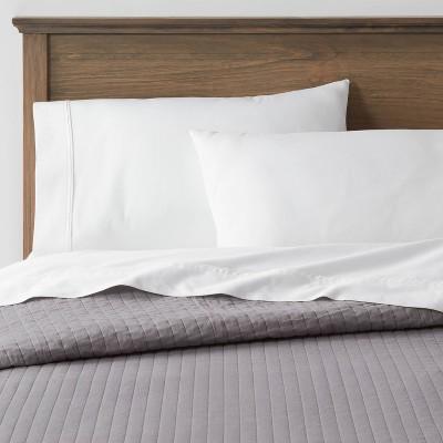 Full/Queen Washed Cotton Sateen Quilt Dark Gray - Threshold™