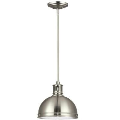 Generation Lighting Pratt Street Metal 1 light Brushed Nickel Pendant 6508593S-962