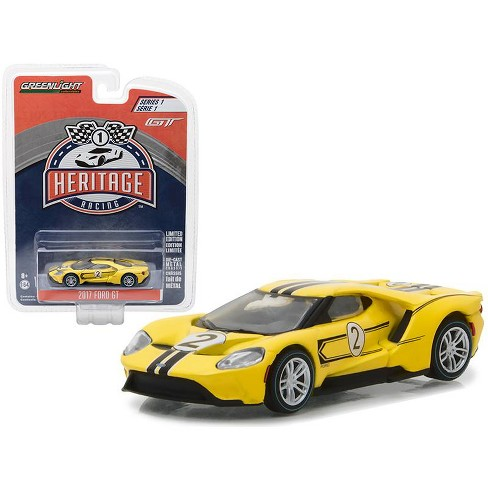 2017 Ford GT Yellow #2 - Tribute to 1967 Ford GT40 MK IV #2 Racing Heritage Series 1 1/64 Diecast Model Car by Greenligh - image 1 of 1