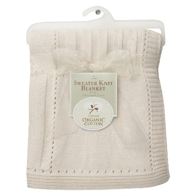 TL Care® Organic Cotton Sweater Knit Swaddle Blanket - Natural