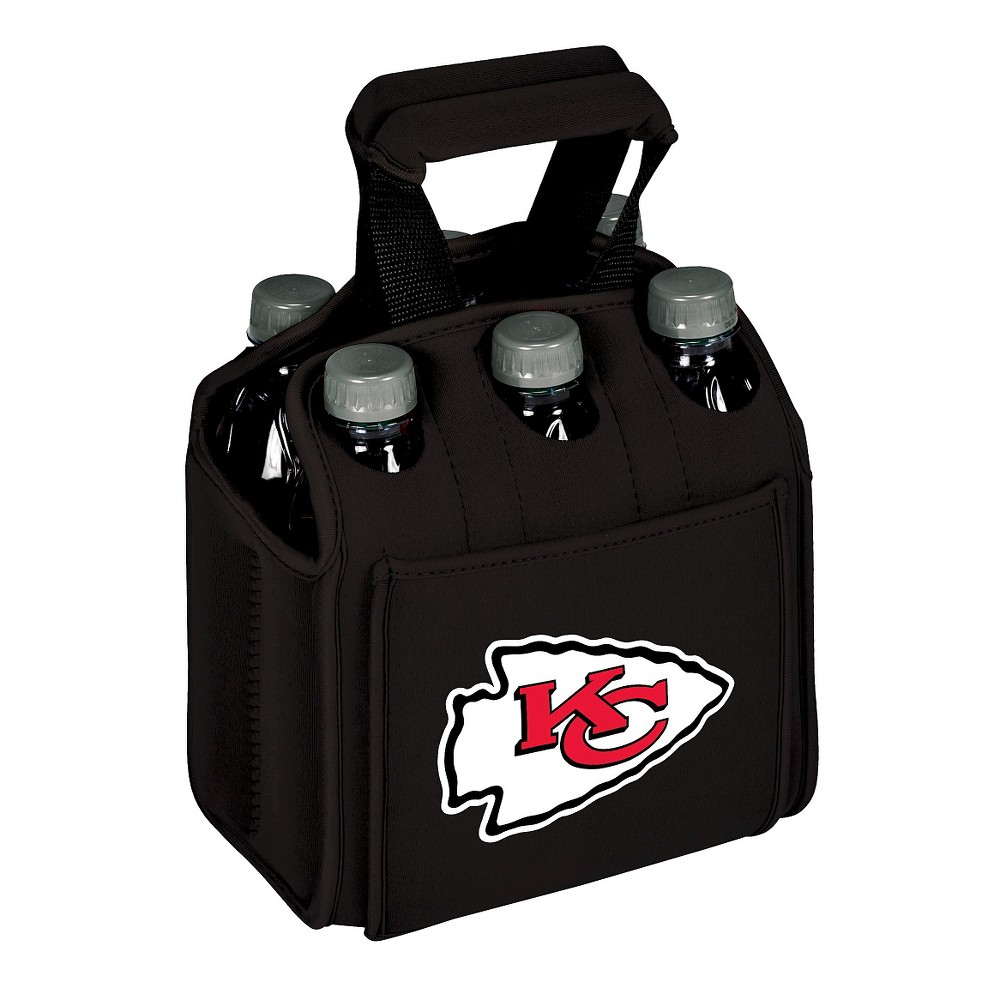 Kansas City Chiefs - Six Pack Beverage Carrier by Picnic Time (Black)