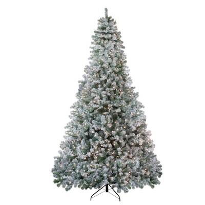 Northlight 9' Prelit Artificial Christmas Tree Flocked Winema Pine - Clear Lights