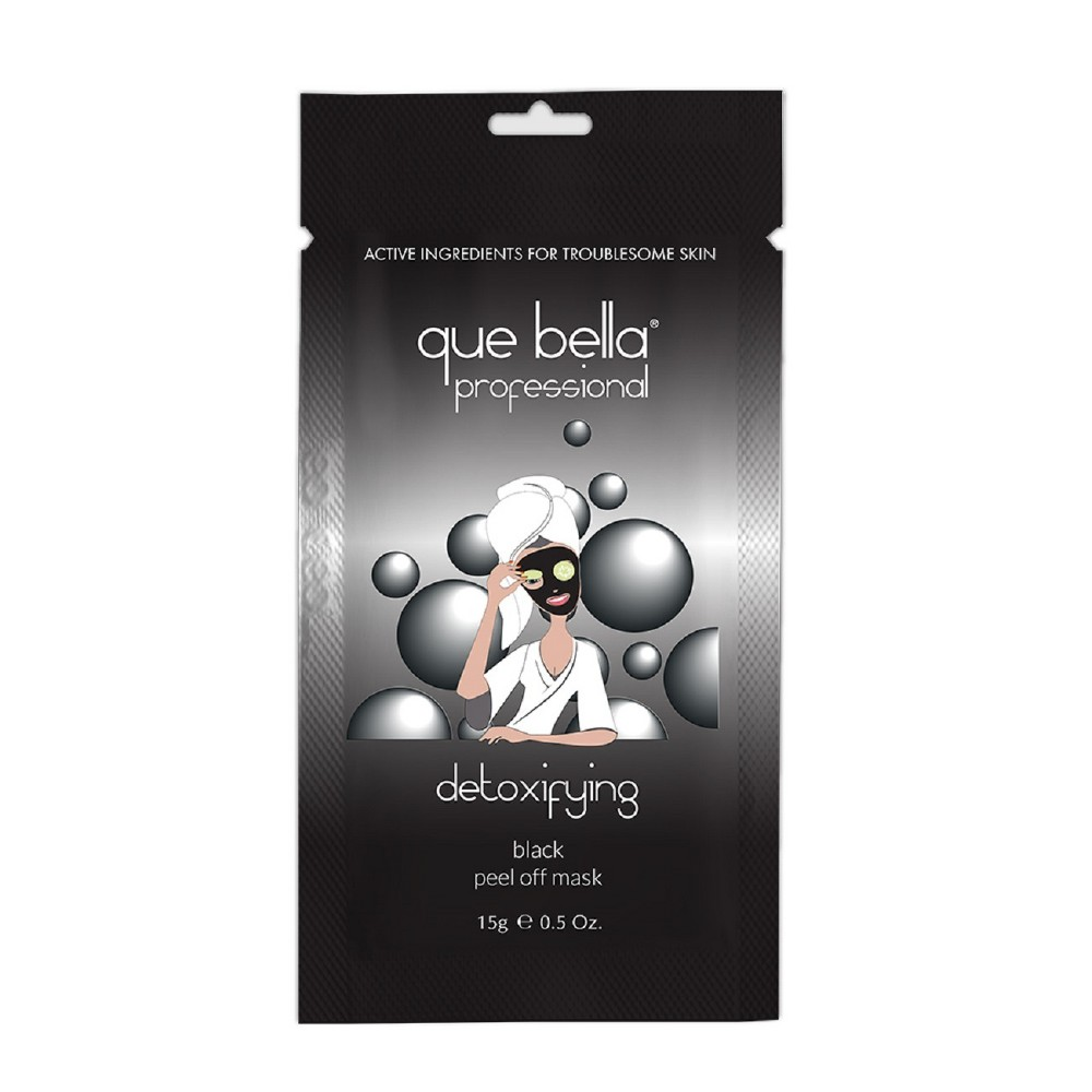 Que Bella Detoxifying Black Peel Off Mask - 0.5oz