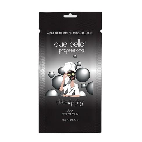 Que Bella Professional Detoxifying Black Peel Off Face Mask - 0 5oz