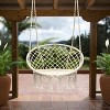 Hanging Rope Chair Off White - Sorbus - image 3 of 4