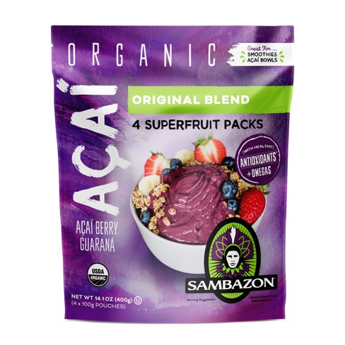 Sambazon Aa Original Blend Superfruit Frozen Smoothie Packs - 400g - image 1 of 1