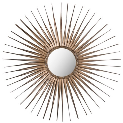 Sunburst Windsor Decorative Wall Mirror Gold - Safavieh® - image 1 of 3