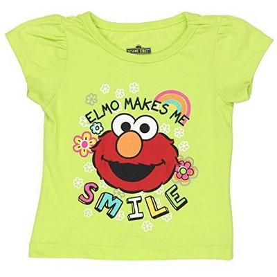Sesame Street Girl's Elmo Short Sleeve Graphic Tee Shirt for Infants