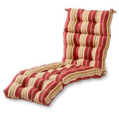 Roma Stripe Outdoor Chaise Lounge Cushion - Kensington Garden