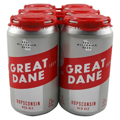 Great Dane® Hopsconsin Red Ale - 6pk / 12oz Cans - image 1 of 1