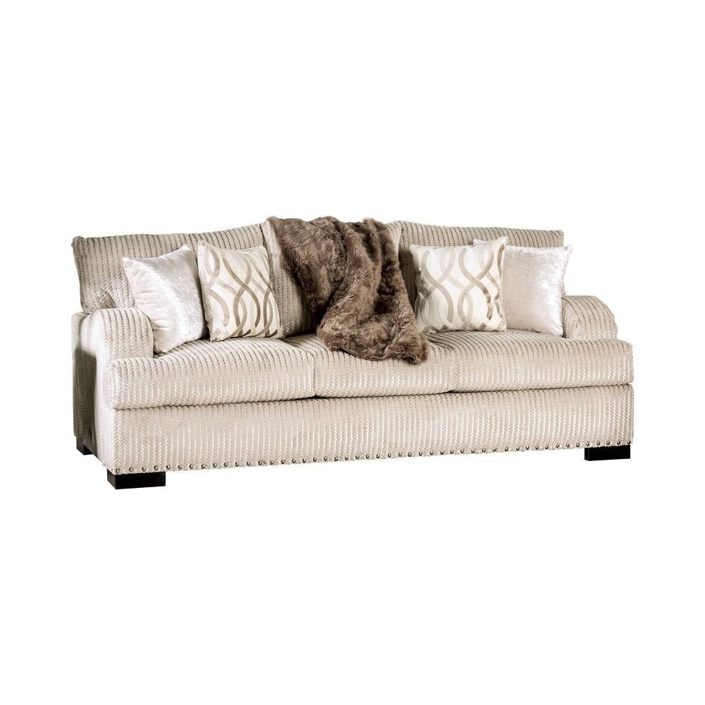 Carrolton T Cushion Sofa Golden Ivory - miBasics
