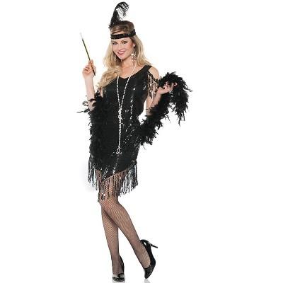 Underwraps Costumes Swingin Flapper Adult Costume (Black)