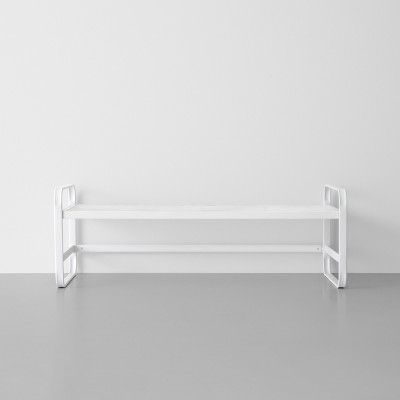 Single Tier Metal Shoe Rack White - Made By Design™