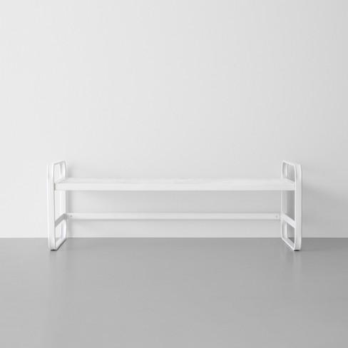single tier metal shoe rack white made by design target. Black Bedroom Furniture Sets. Home Design Ideas