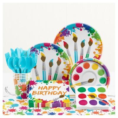 Art Birthday Party Supplies Kit