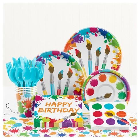 Art Birthday Party Supplies Kit Target